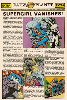 Front Page of the Daily Planet Newpaper from Superman Comic
