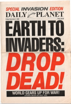 Daily Planet front page, dated November 4, 1988