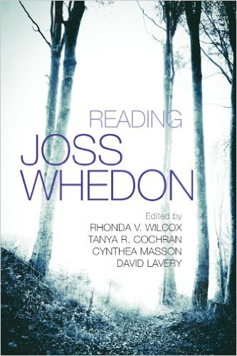 Book Cover for Reading Joss Whedon - a light background, with purple text.