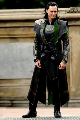 Loki dressed in full Asguardian regalia
