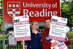 My fantastic Colleague son the picket line at Reading